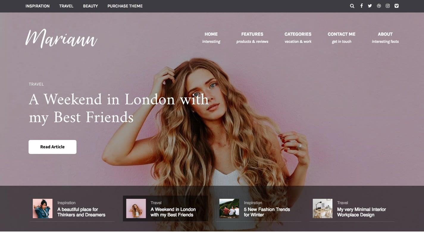 Mariann WordPress Theme