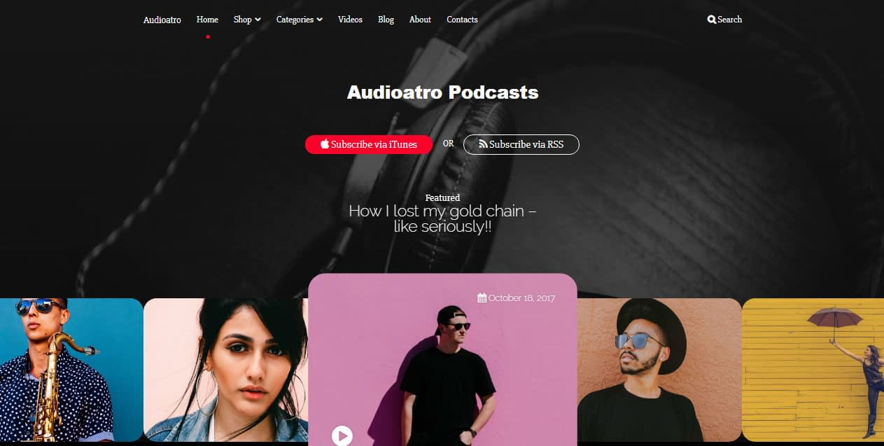 Audioatro WordPress Theme
