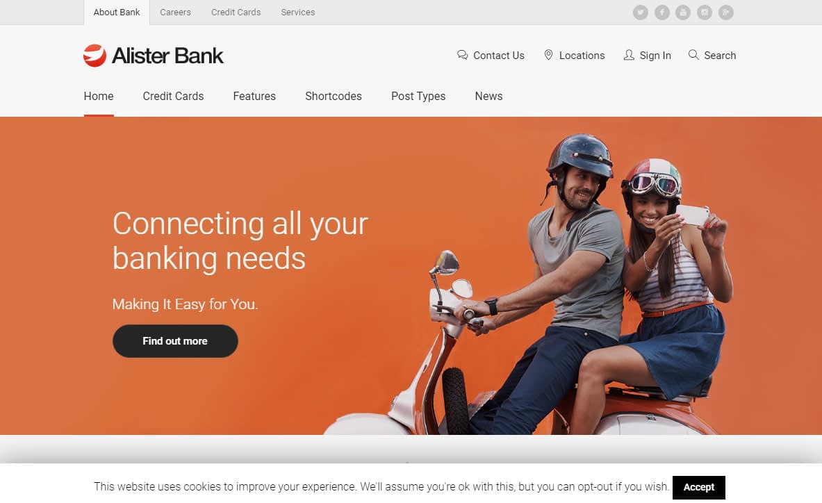 Alister Bank WordPress Theme