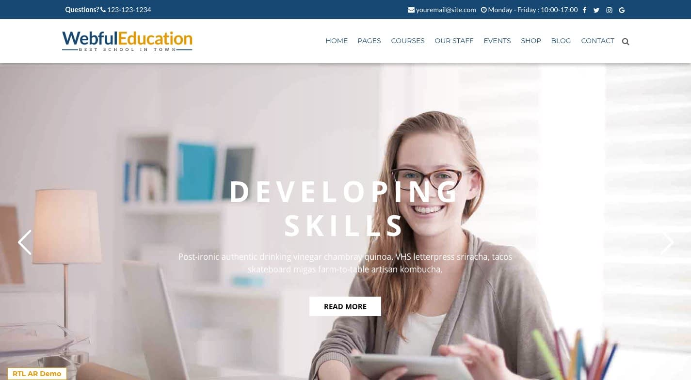 Education Wp WordPress Theme