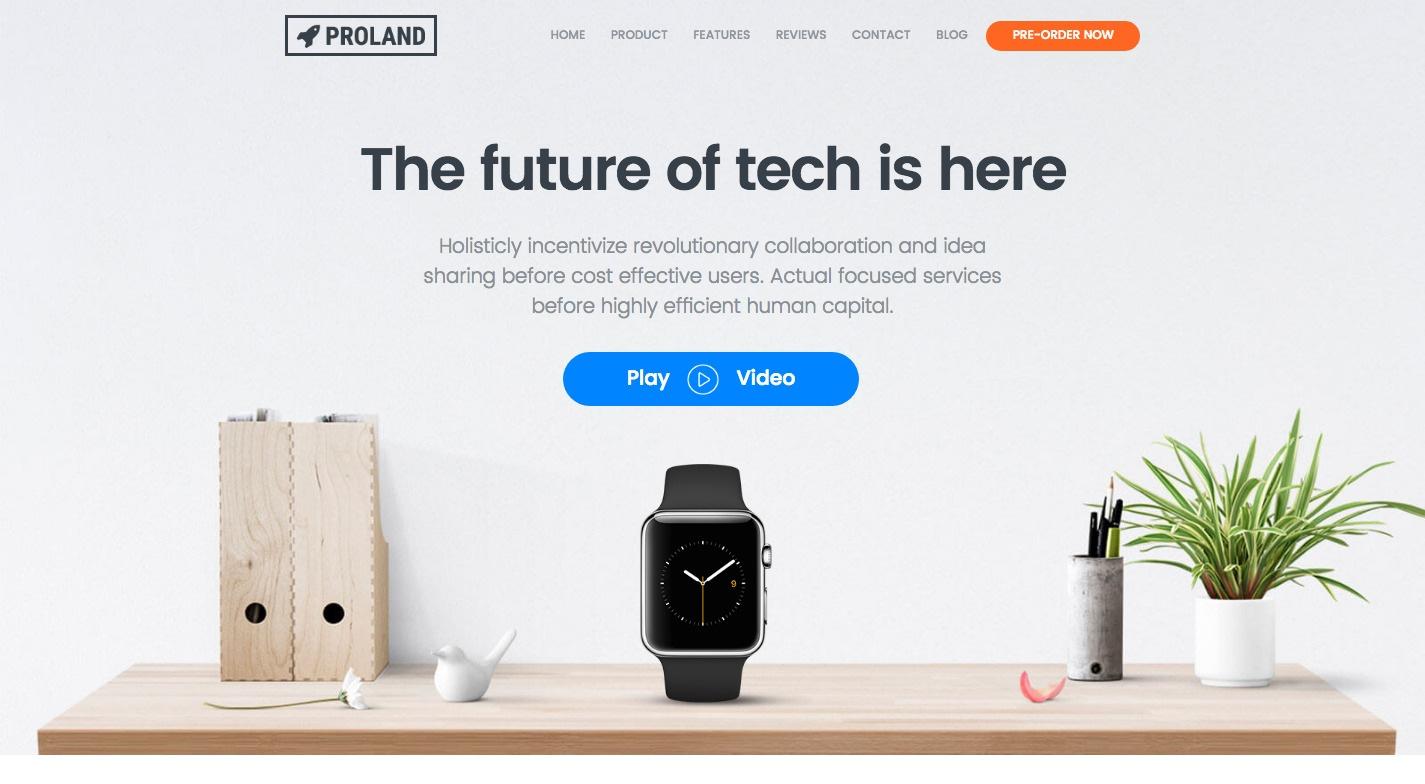 Proland WordPress Theme