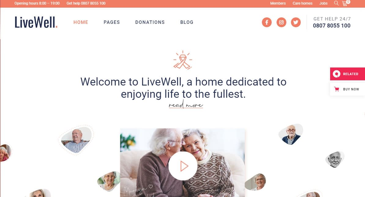LiveWell WordPress Theme