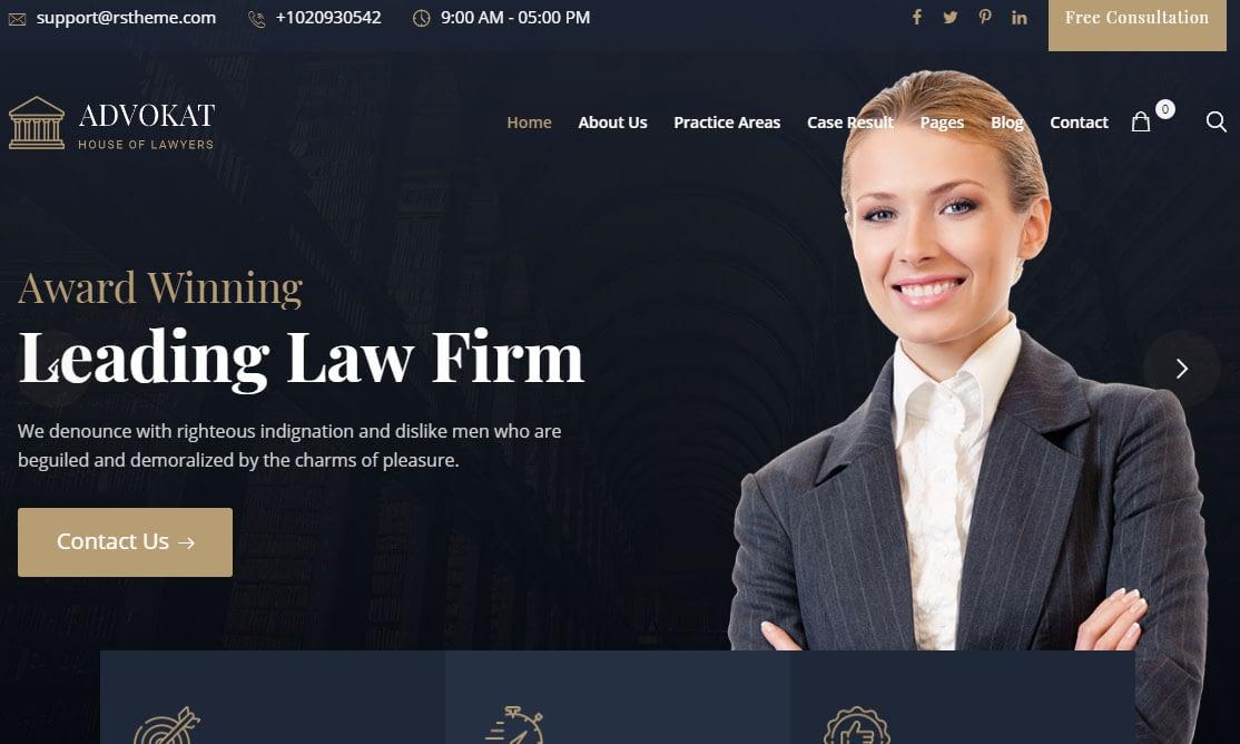 Advokat WordPress Theme