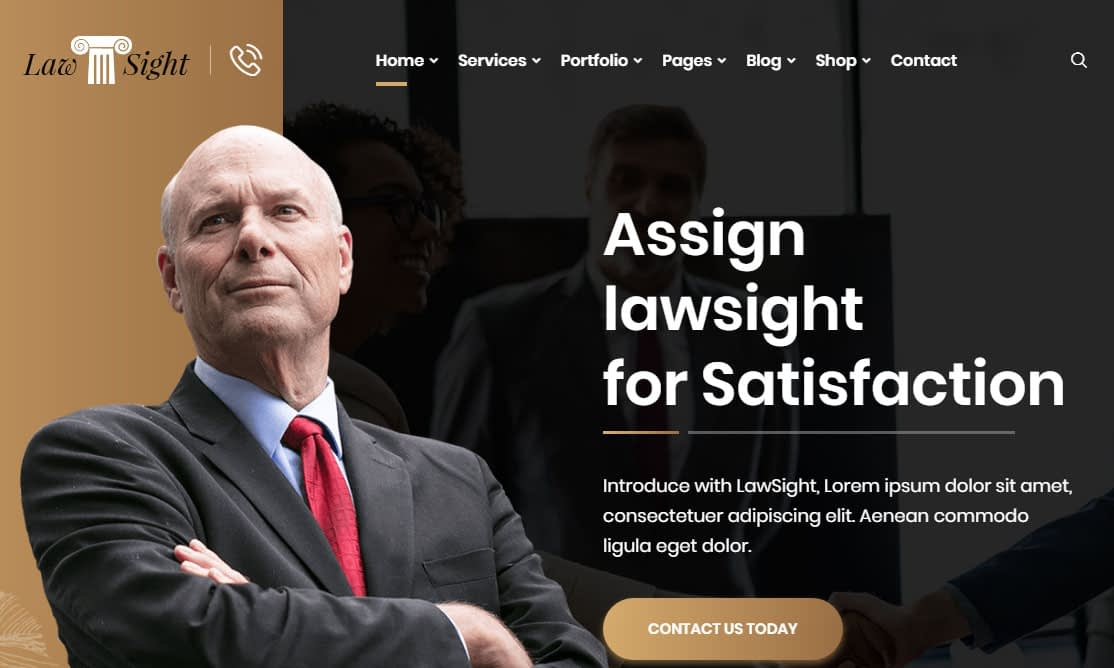 Lawsight WordPress Theme