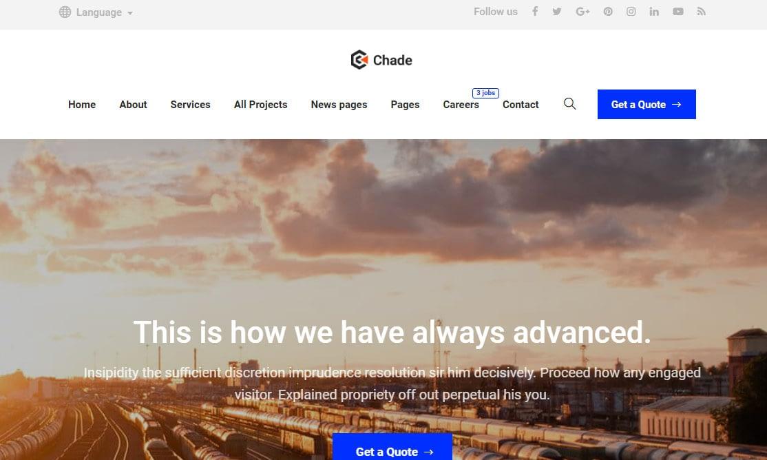 Chade WordPress Theme