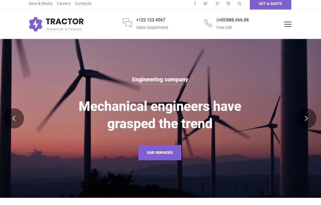 Tractor WordPress Theme
