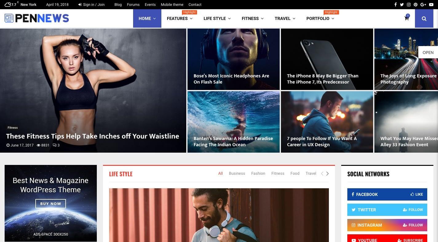 PenNews WordPress Theme