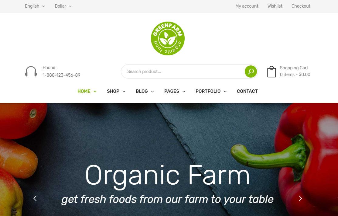 Organicfarm WordPress Theme