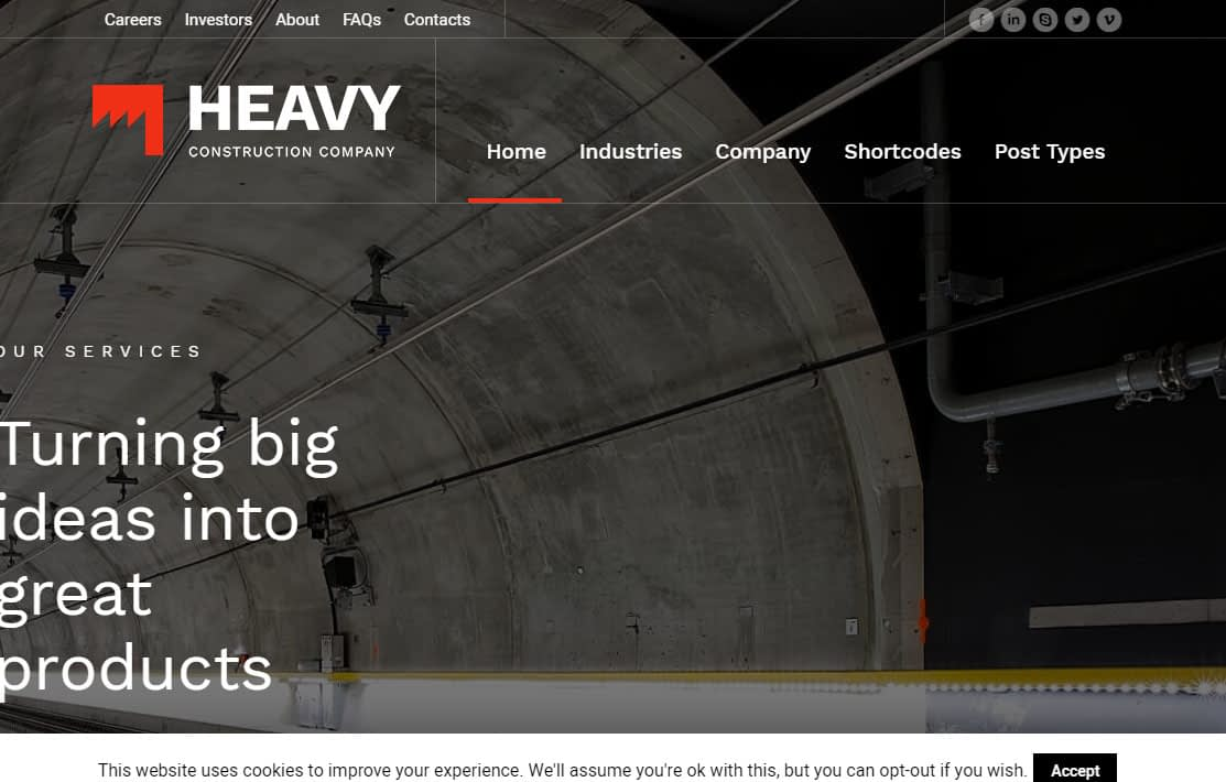 Heavy WordPress Theme