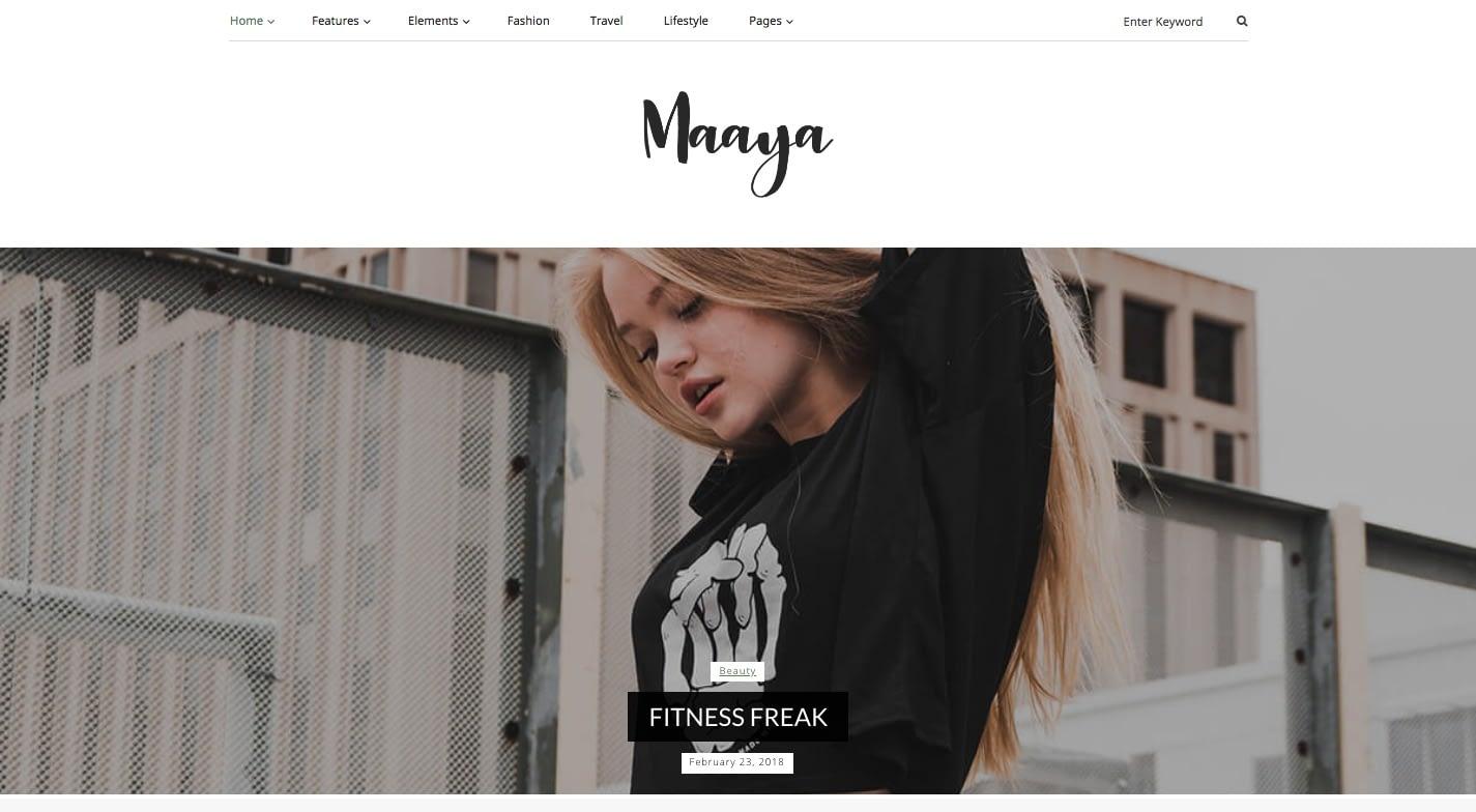 Maaya WordPress Theme