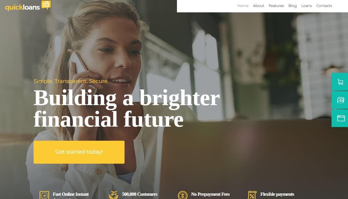QuickLoans WordPress Theme