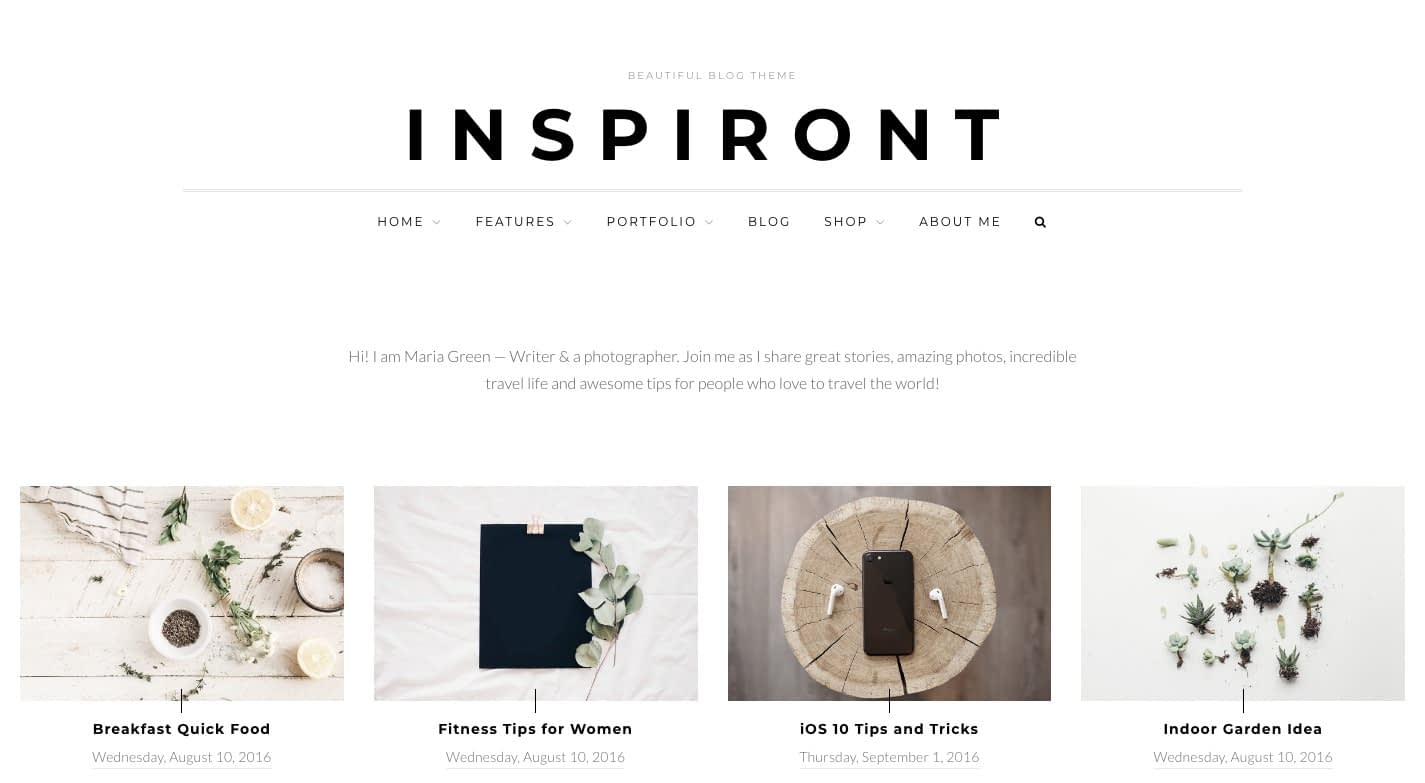 Inspiront WordPress Theme
