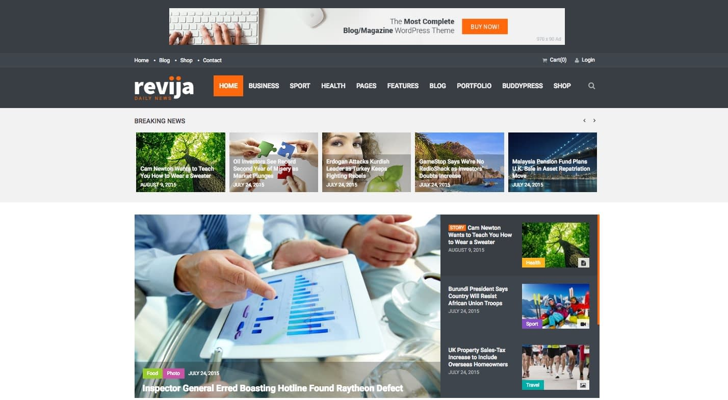 Ravija WordPress Theme