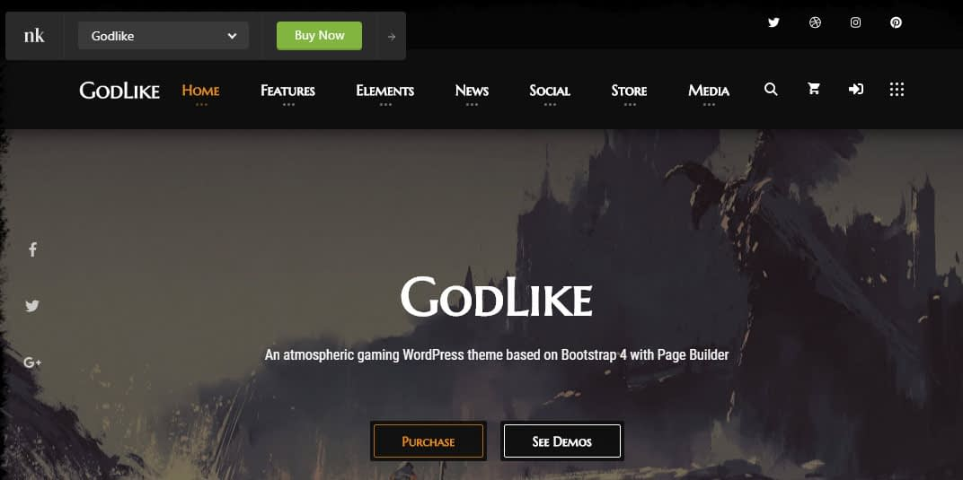 GodLike WordPress Theme