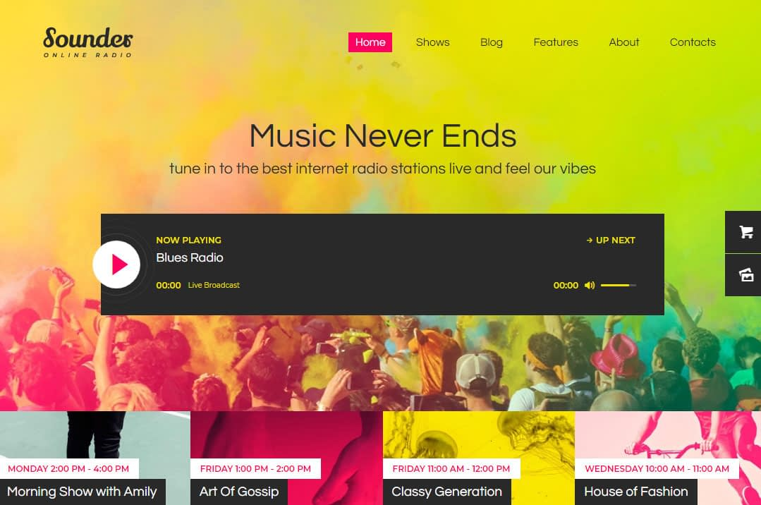Sounder WordPress Theme