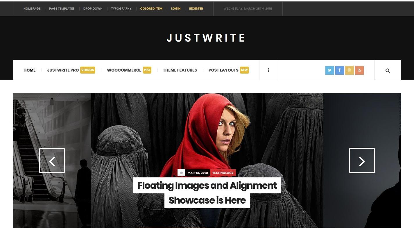 Justwrite WordPress Theme