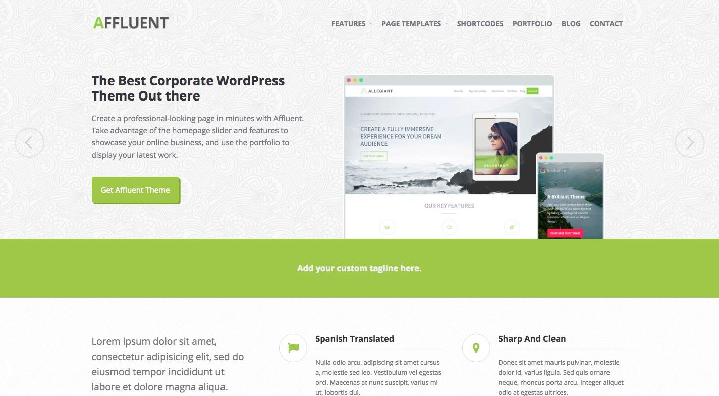 Affluent WordPress Theme