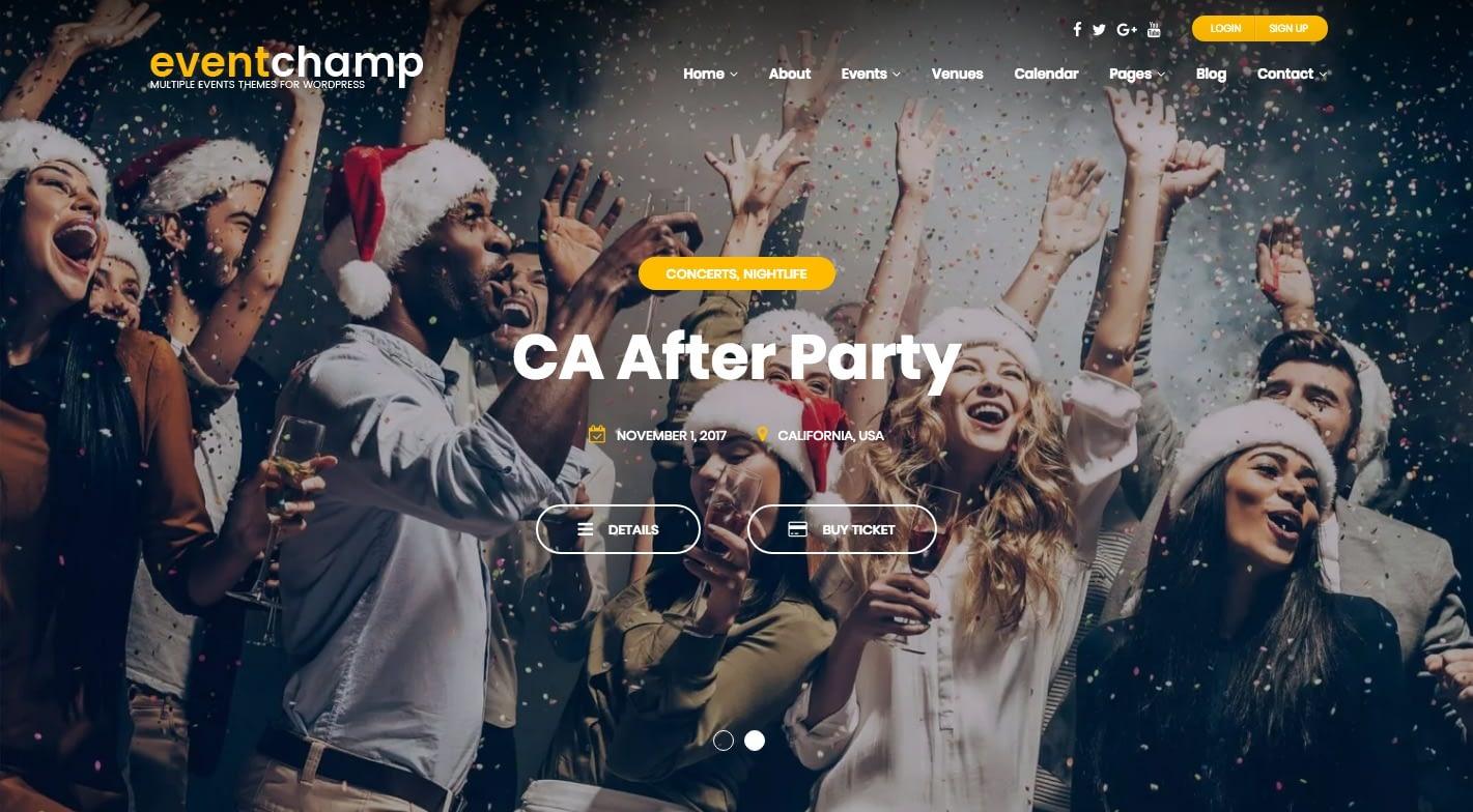 Event Champ WordPress Theme