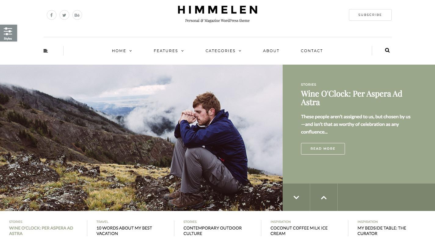 Himmelen WordPress Theme