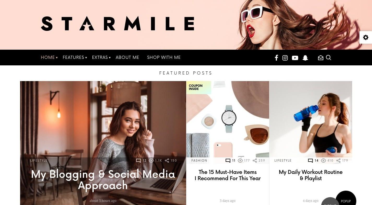 Starmile WordPress Theme