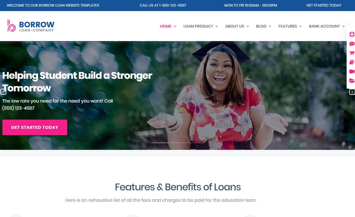 Borrow WordPress Theme