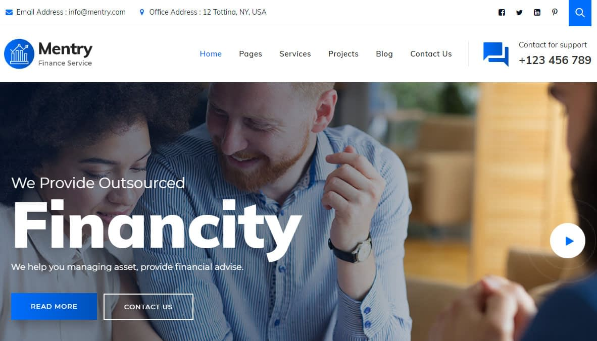 Mentry WordPress Theme