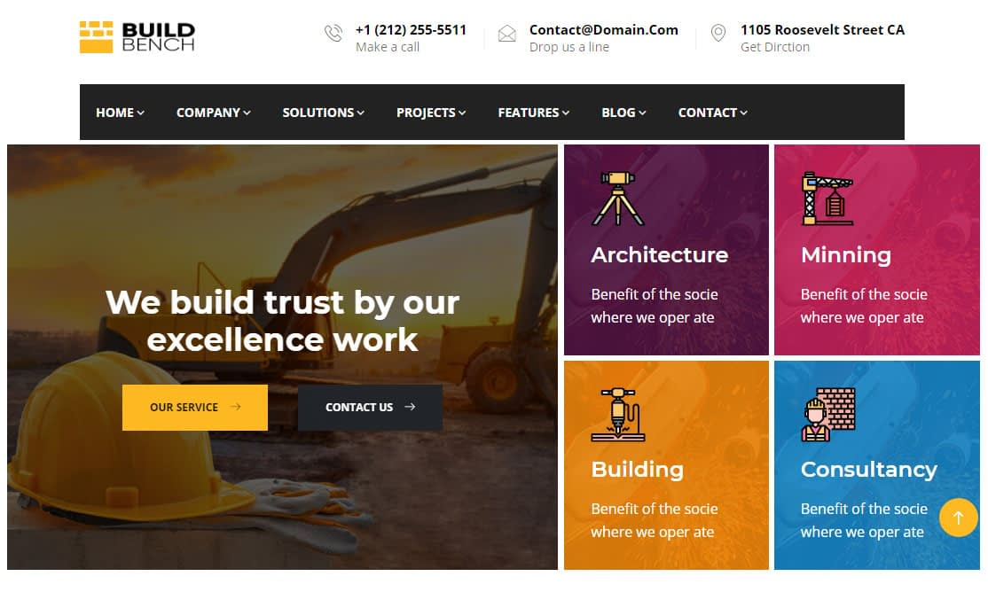 Buildbench WordPress Theme