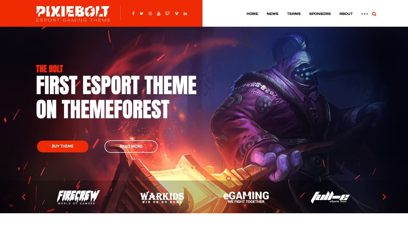 PixieBolt WordPress Theme