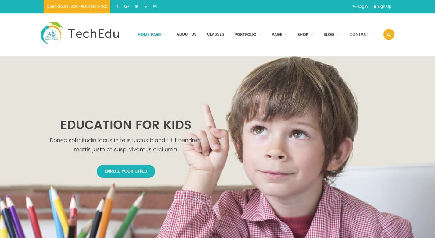 Techedu WordPress Theme