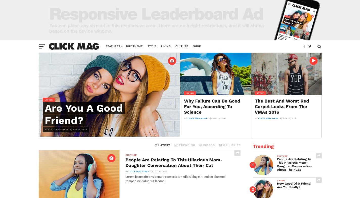 Click Mag WordPress Theme