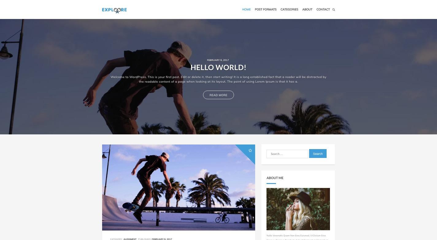 Exploore WordPress Theme