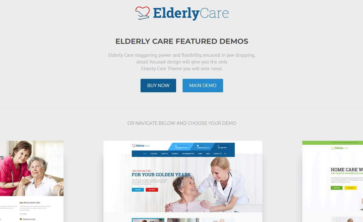 Elderly Care WordPress Theme