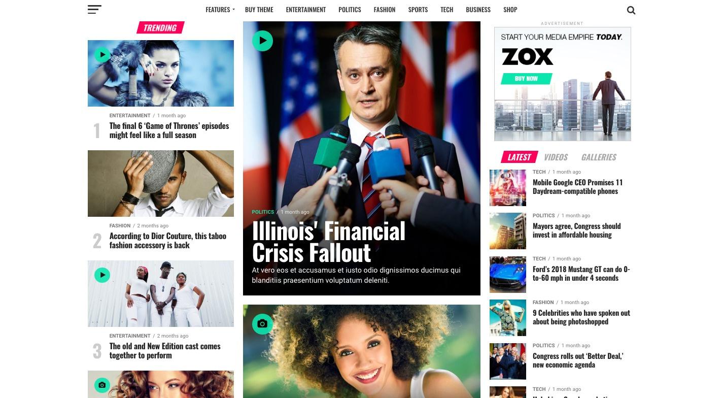 Zox News WordPress Theme