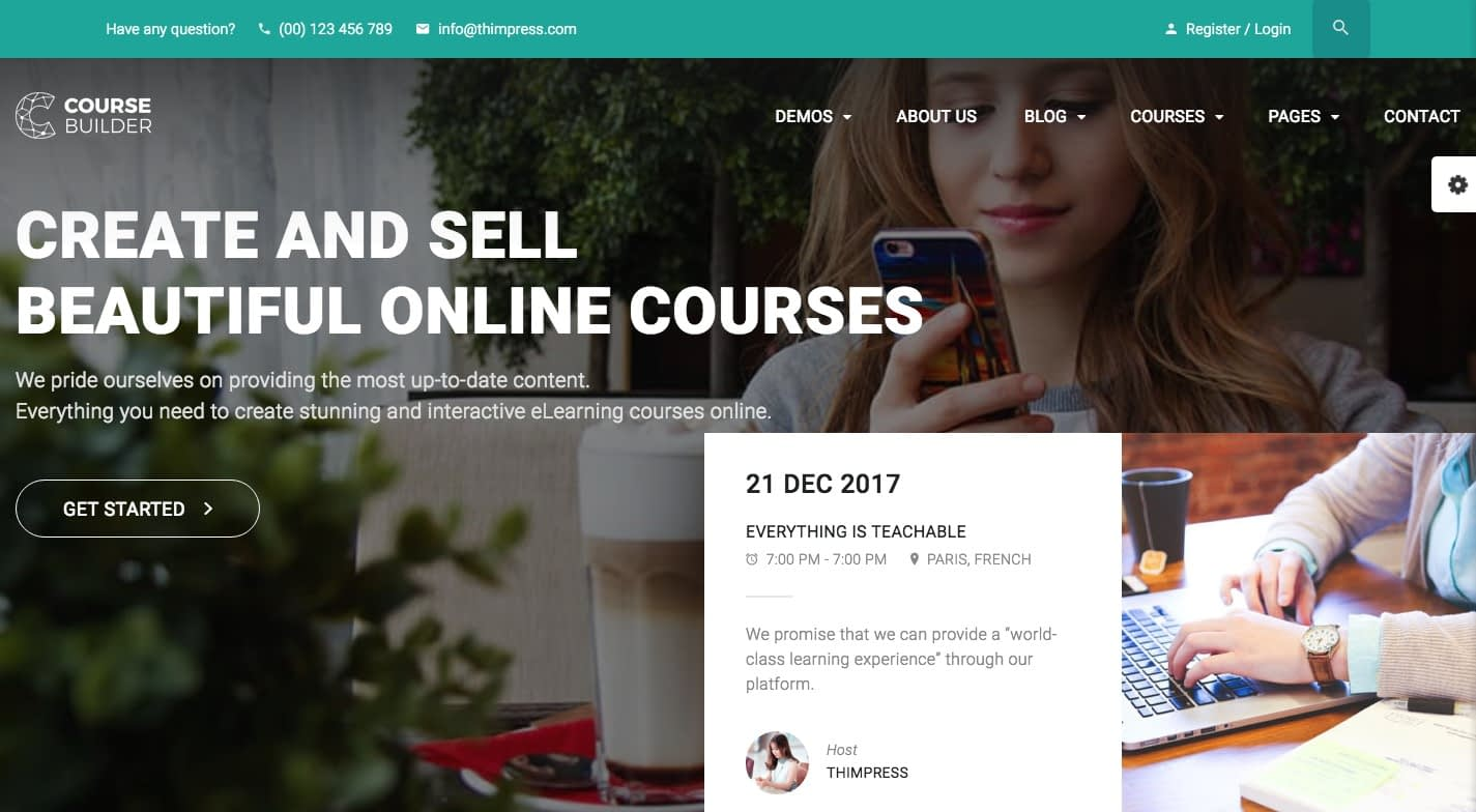 Course Builder WordPress Theme