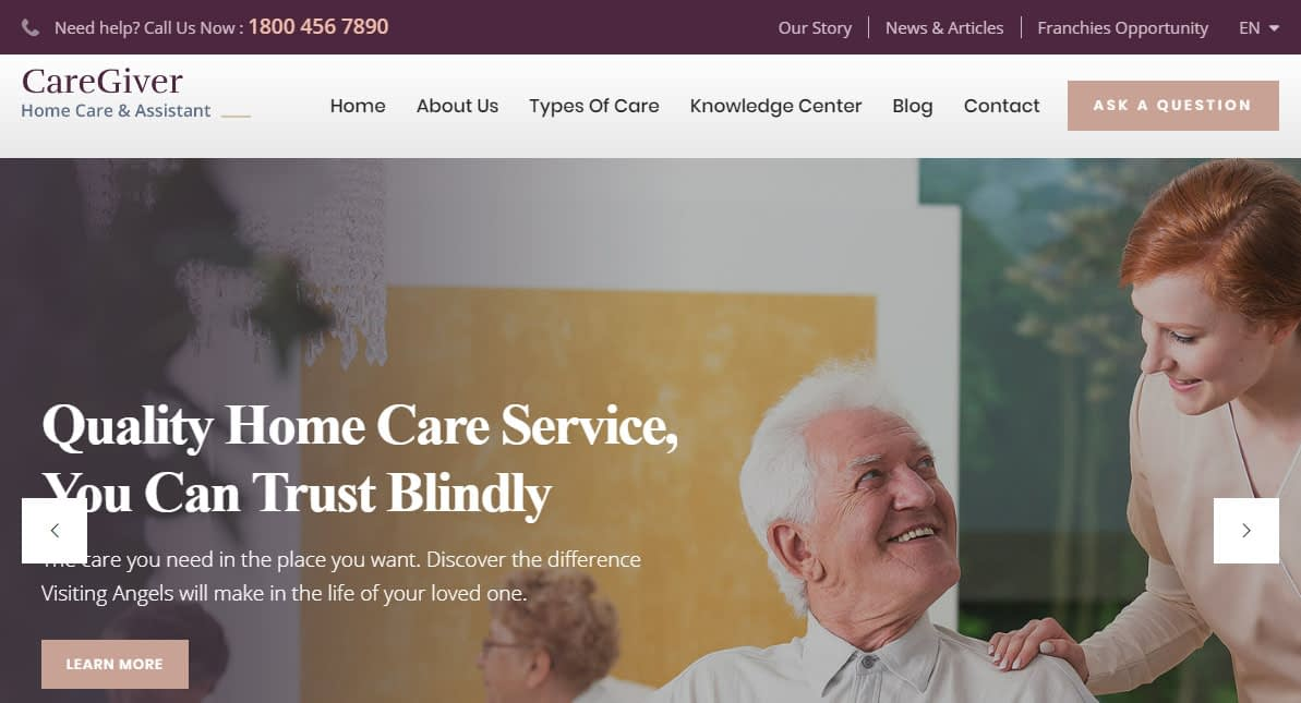 CareGiver WordPress Theme