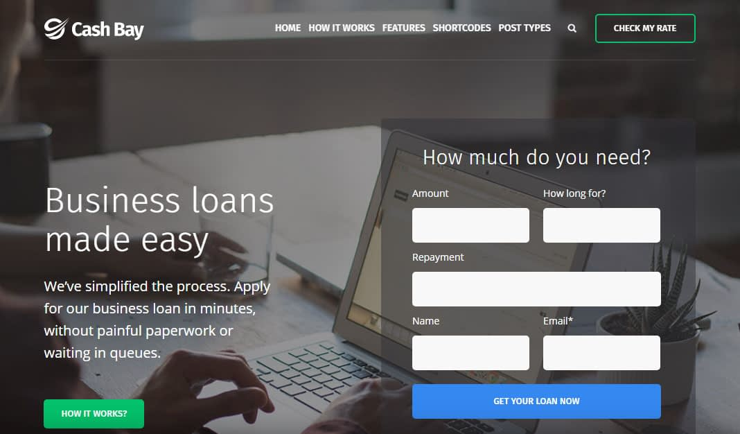 Cash Bay WordPress Theme
