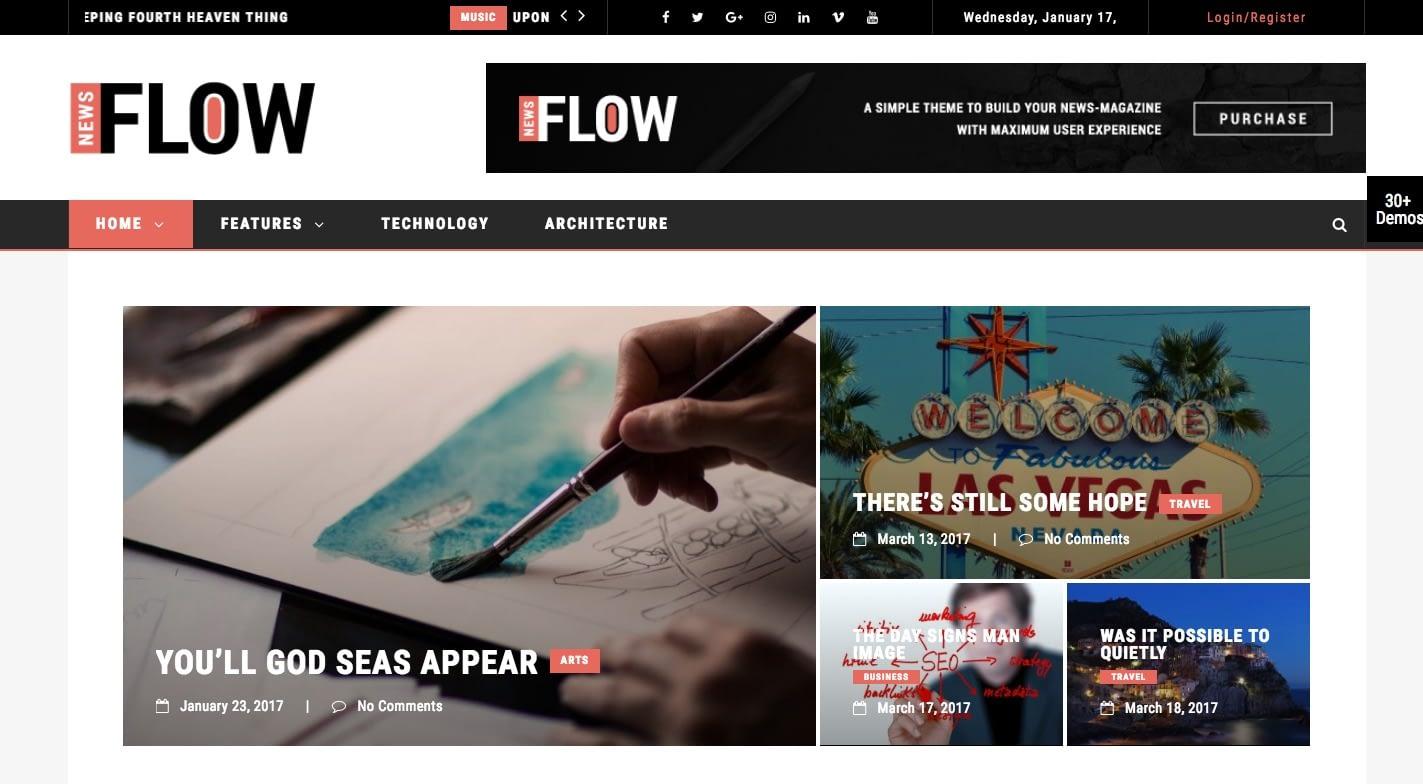 Flow News WordPress Theme