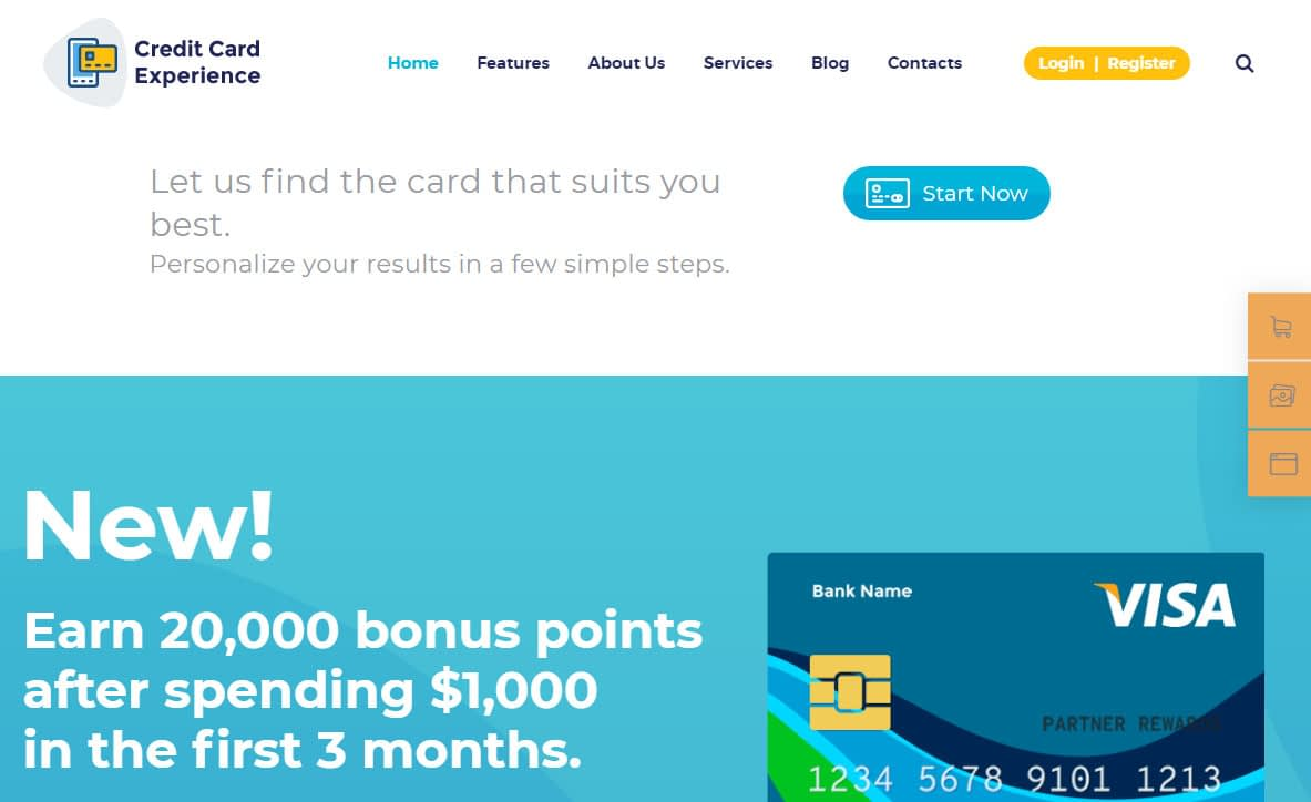 Credit Card Company WordPress Theme