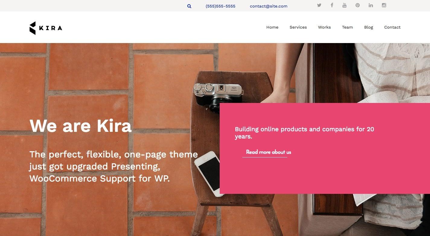 Kira Lite WordPress Theme