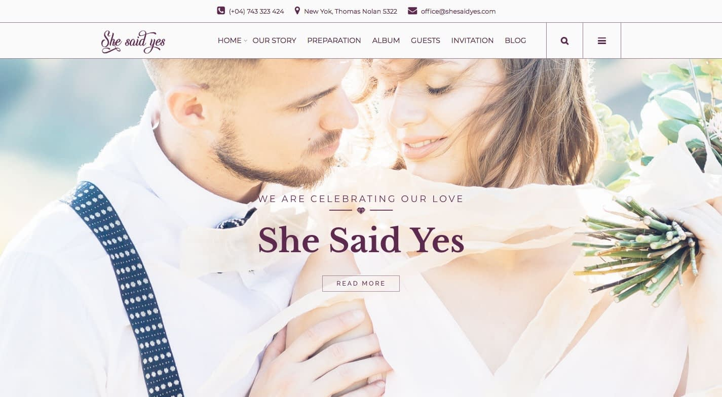 SheSaidYes WordPress Theme
