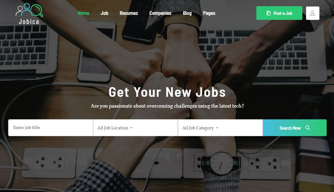 Jobica WordPress Theme