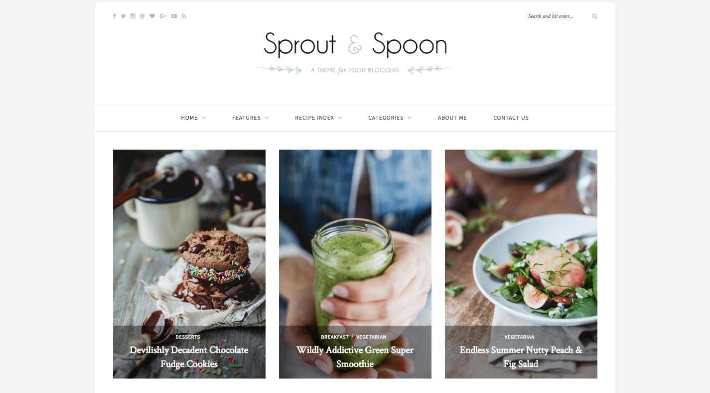 Sprout & Spoon WordPress Theme