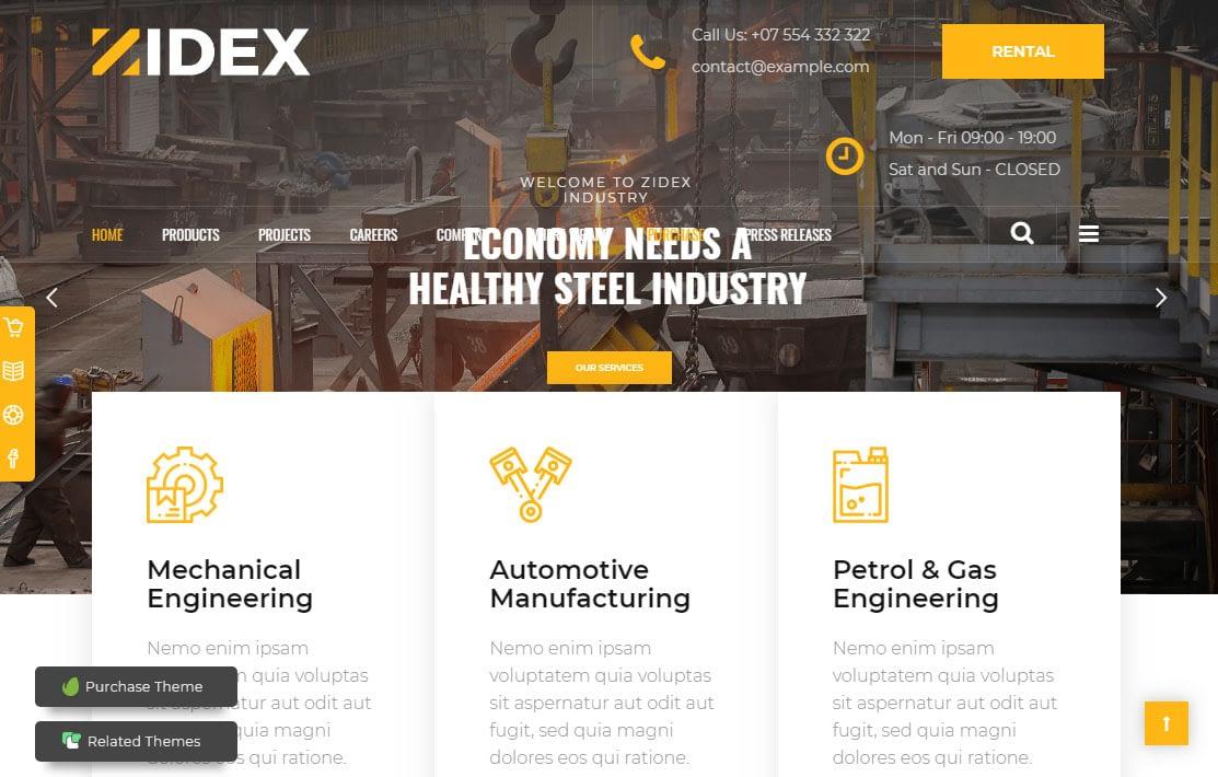 Zidex WordPress Theme