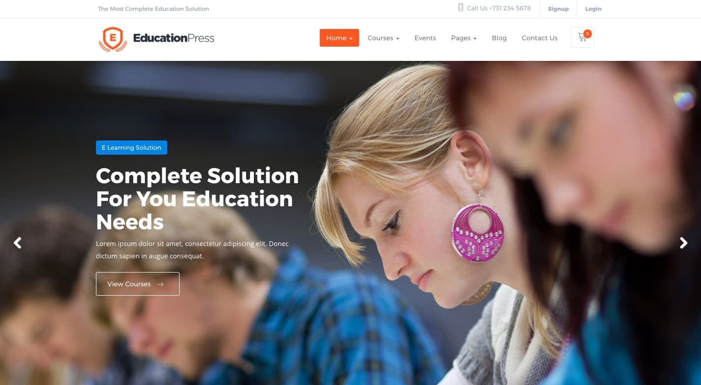 Educationpress WordPress Theme