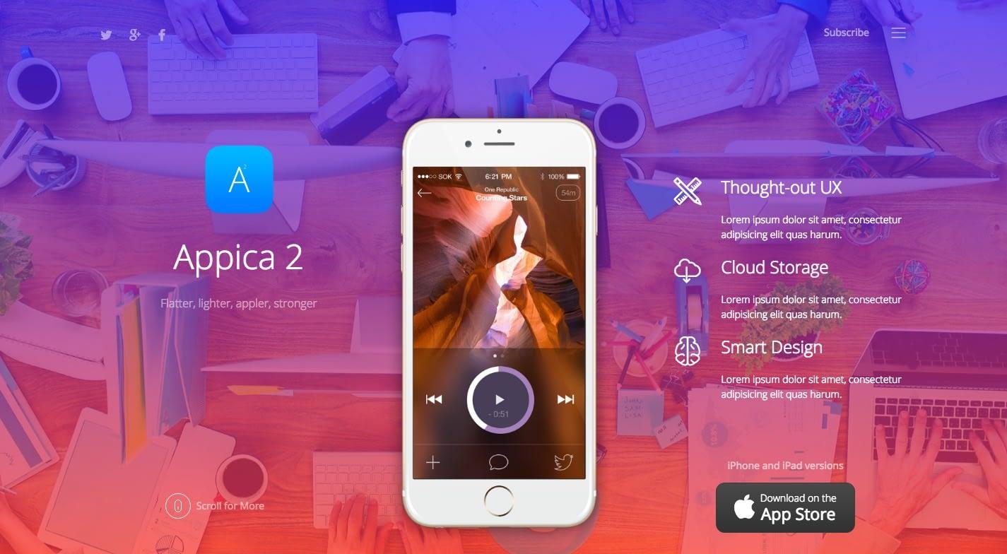 Appica 2 WordPress Theme