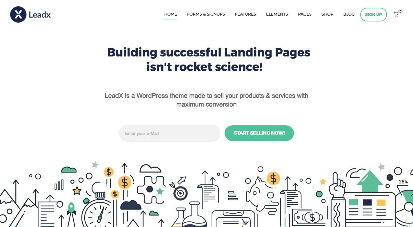 Leadx WordPress Theme