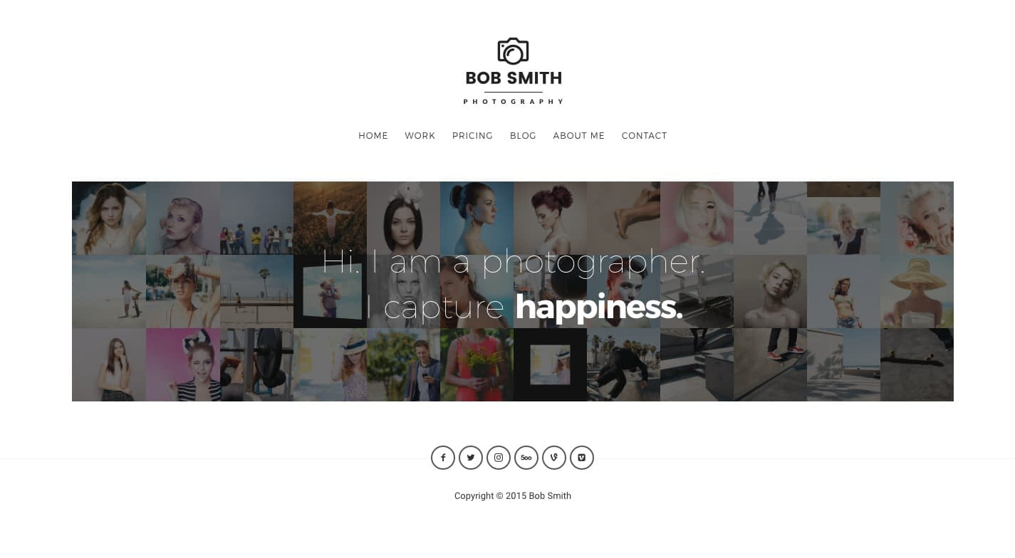Photographer WordPress Theme