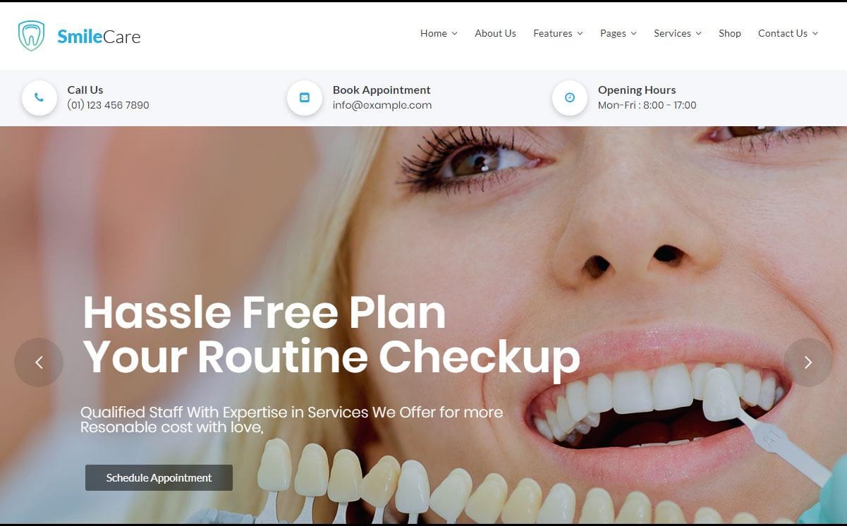 SmileCare WordPress Theme