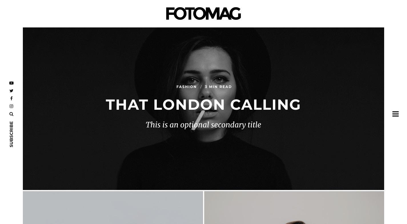 Fotomag WordPress Theme