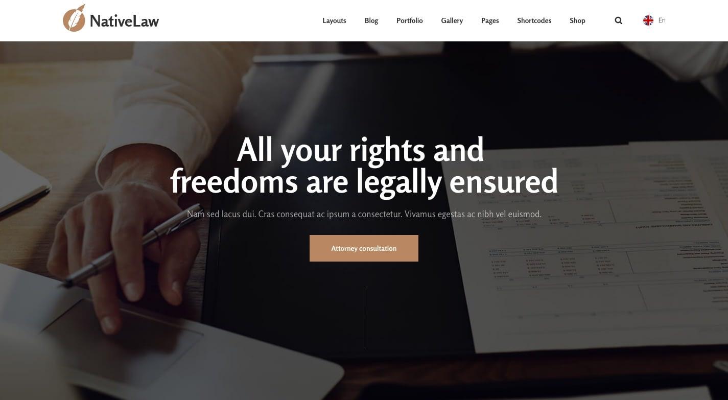 Native WordPress Theme